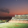 SMU stadium at dusk